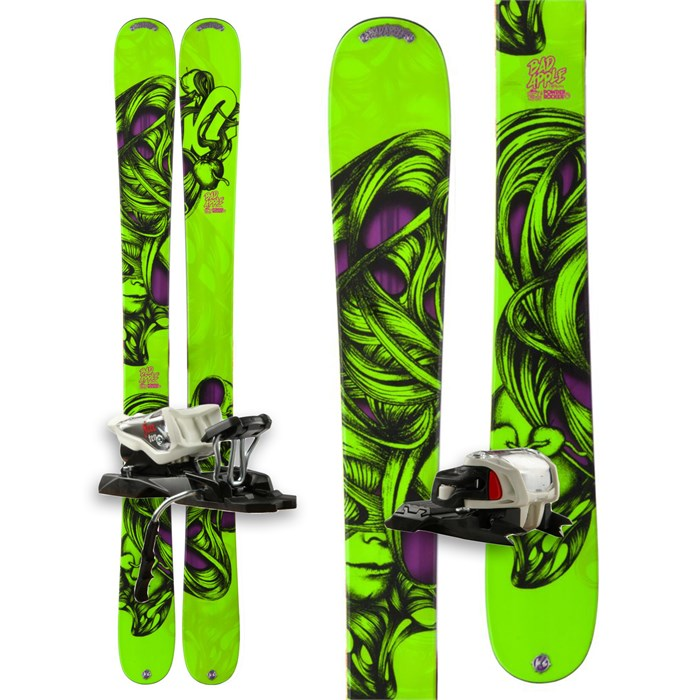 K2 - Bad Apple Skis + Marker Free 10.0 Bindings - Boy's 2013