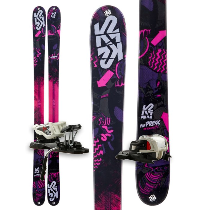 K2 - Empress Skis + Marker Free 10.0 Bindings - Women's 2013