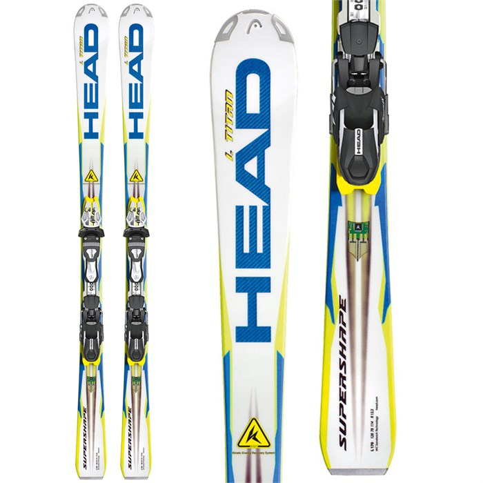 Head - i.Supershape Titan Skis + FreeFlex Pro 11 Bindings 2013
