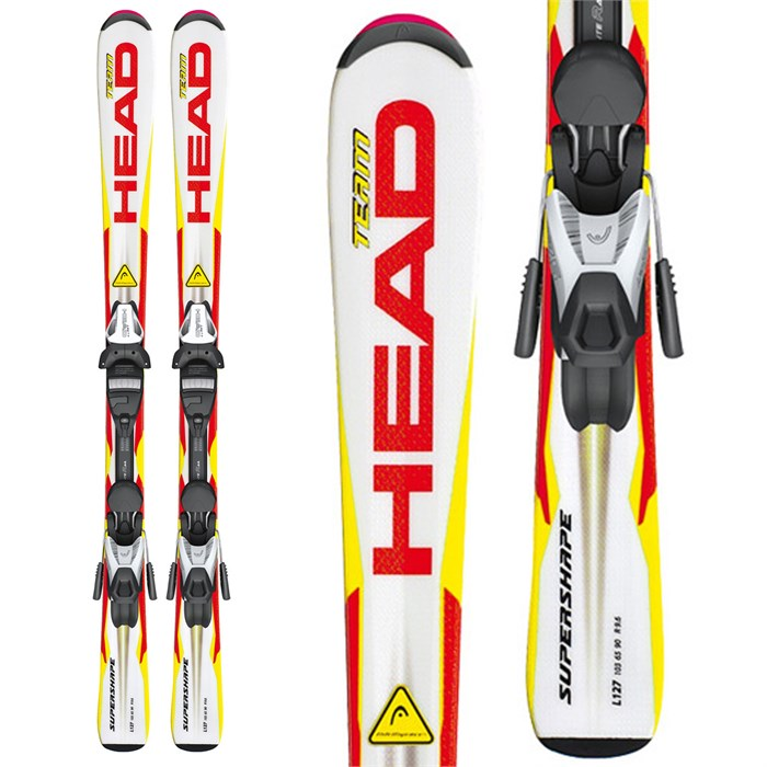 Head - Supershape Team LR Skis + LRX 7.5 AC Bindings - Kid's 2013