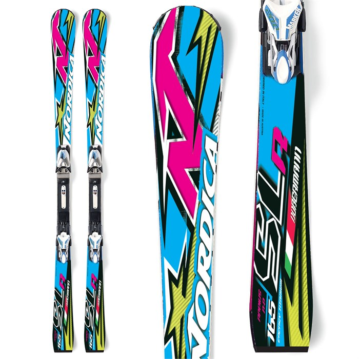 Nordica - Dobermann SLR Power Skis + Comp 20 Bindings 2012