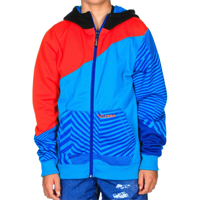 Volcom - Bulldog Block Full Zip Hoodie - Boy's