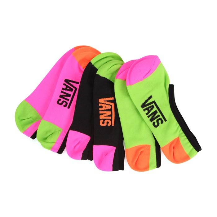 Vans - Neon Socks - 3 Pair Pack - Women's