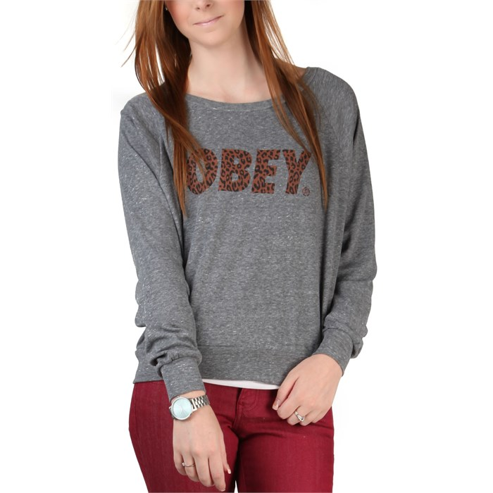 Obey Clothing - Cheetah Font Raglan Top - Women's