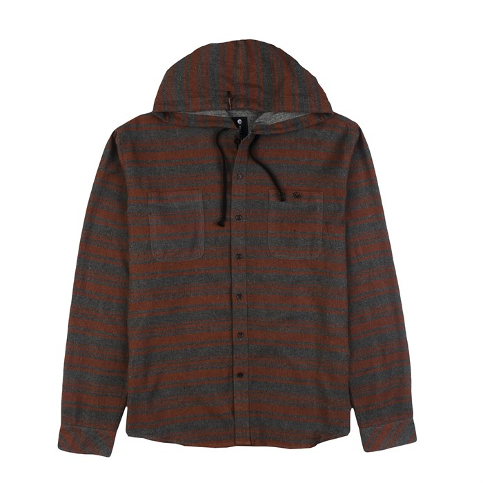 Billabong - Slammer Hooded Button-Down Flannel Shirt