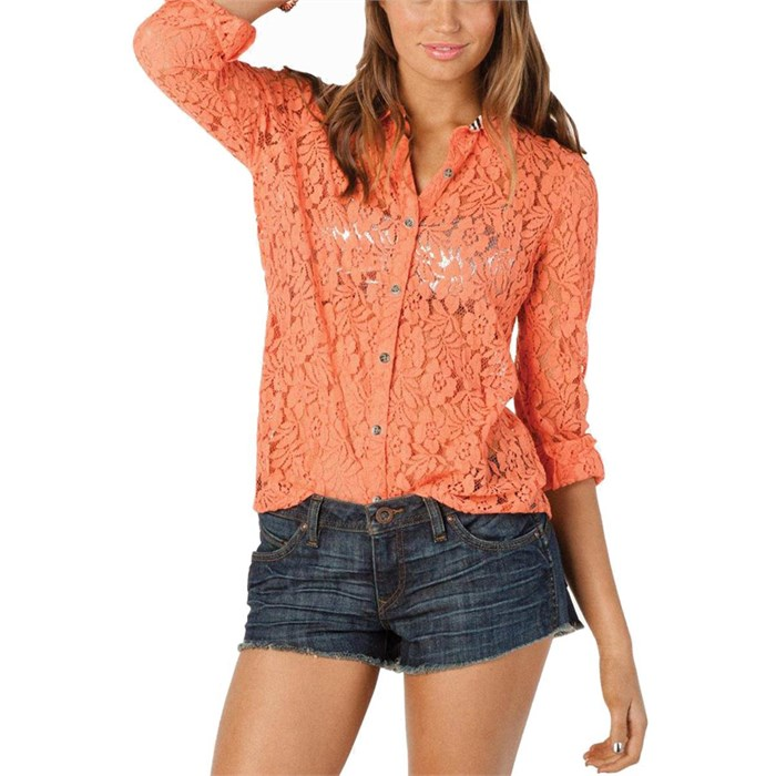 ed5a3fadf59 Volcom - Not So Classic Lace L S Top - Women s ...