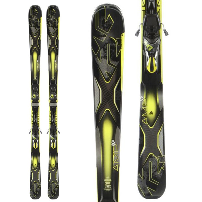 K2 - AMP 80X Skis + M3 12 TC Bindings 2014