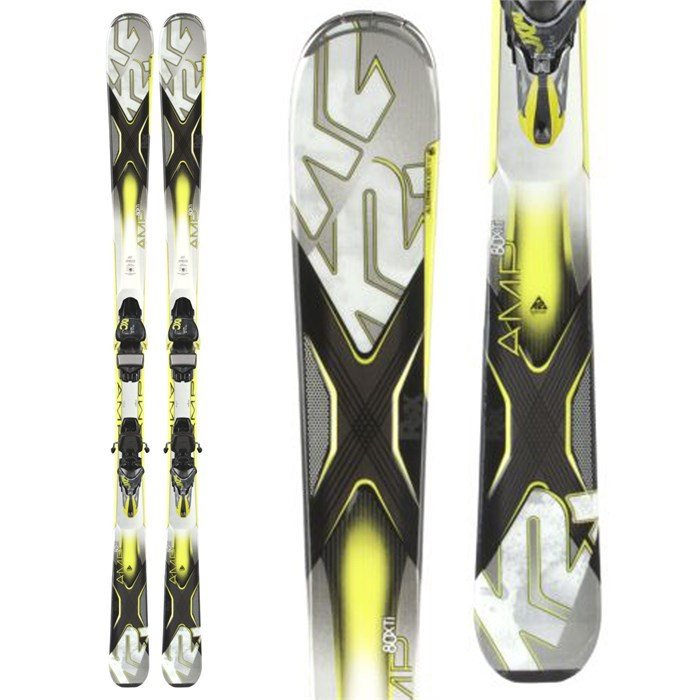 K2 - AMP 80XTi Skis + MXC 12 TC Bindings 2014