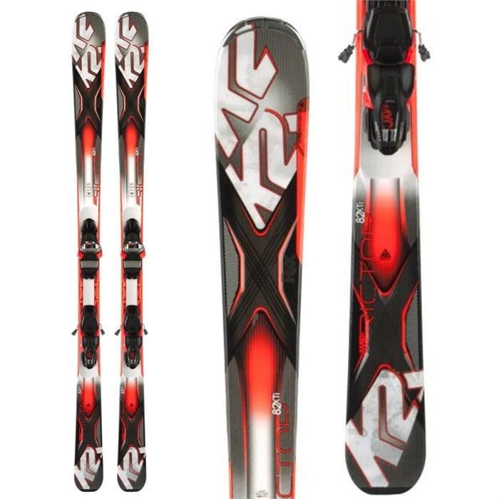 K2 - AMP Rictor 82XTi Skis + MXC 12 Bindings 2014