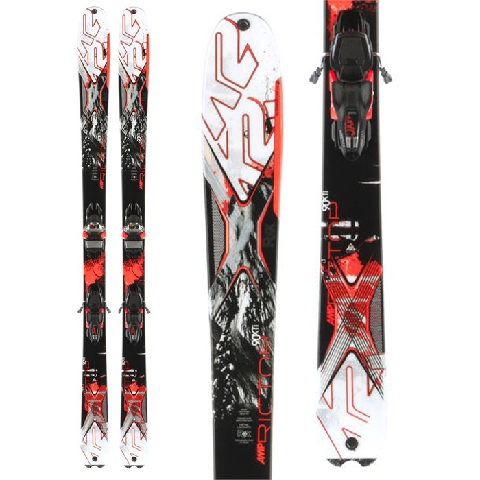 K2 - AMP Rictor 90XTi Skis + MXC 14 Bindings 2014
