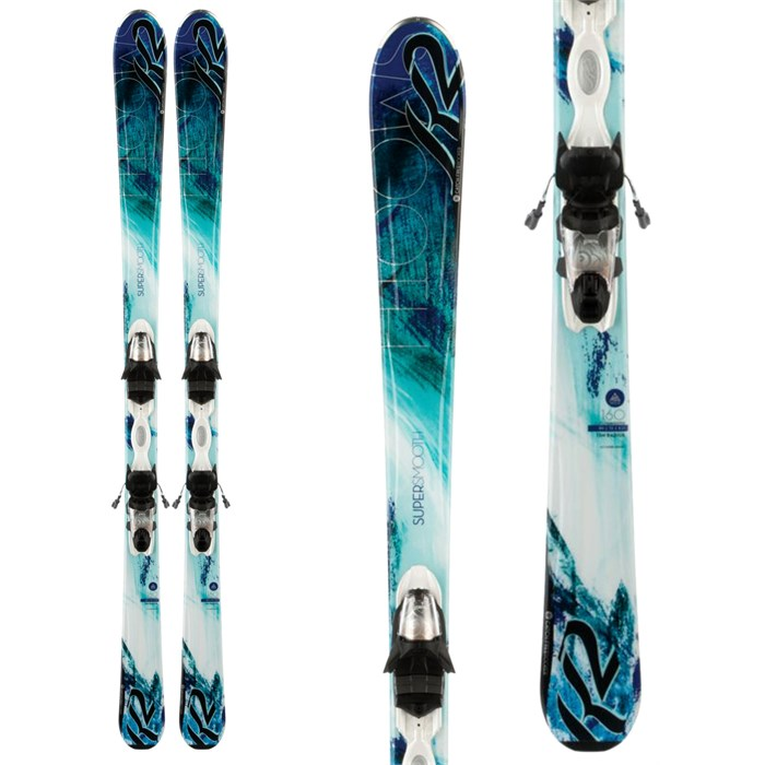 K2 - SuperSmooth 72 Skis + ERP 10 Bindings - Women's 2014
