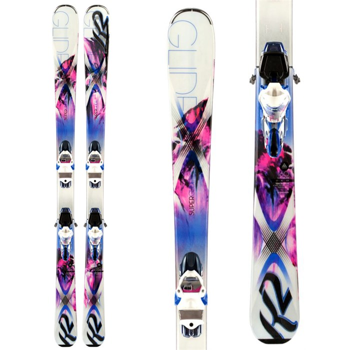 K2 - SuperGlide 80 Skis + ERC 11.0 TC Bindings - Women's 2014