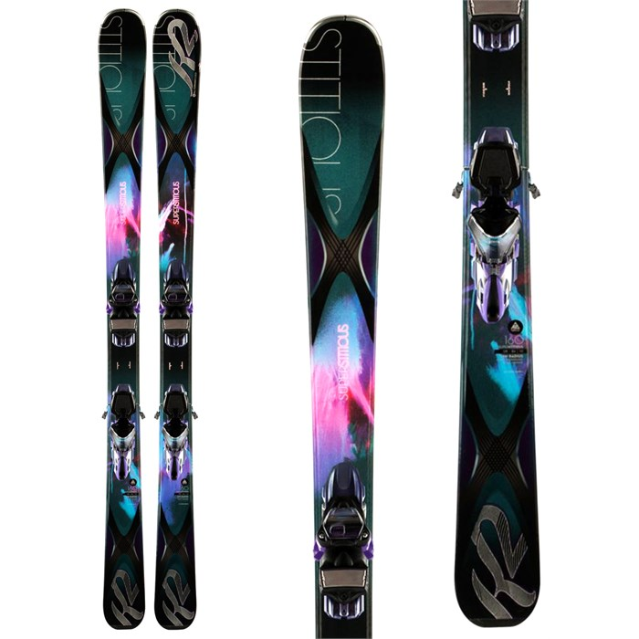 K2 - SuperStitious 84 Skis + ERC 11 TC Bindings - Women's 2014