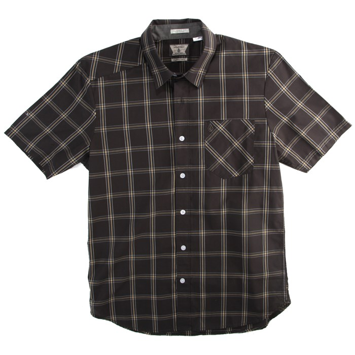 Volcom - Why Factor Plaid Short-Sleeve Button-Down Shirt