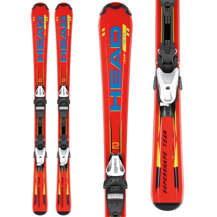 Head - Supershape Team LR Skis + LRX 7.5 AC Bindings - Kid's 2014