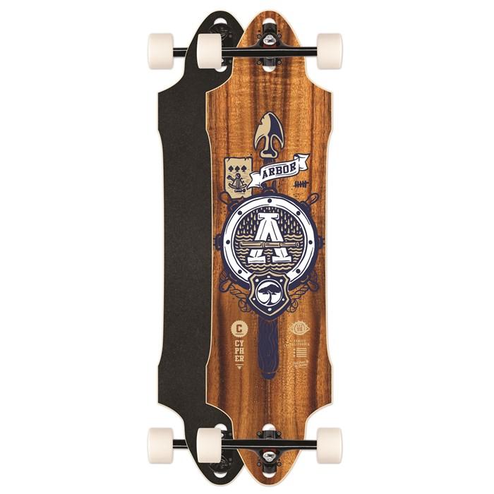 Arbor - Cypher Grip Tape Topsheet Longboard Complete