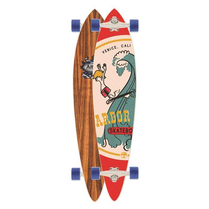 Arbor - Fish Koa Longboard Complete