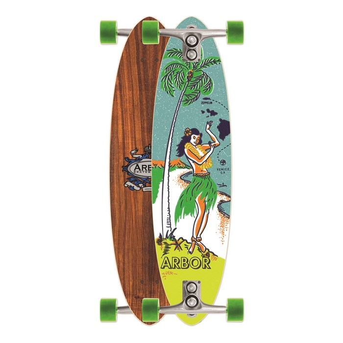 Arbor - Zeppelin Koa Longboard Complete
