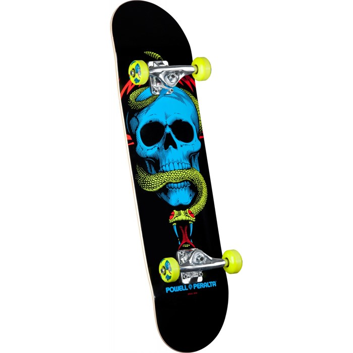 Powell Peralta - Black Light Skull & Snake Green Skateboard Complete