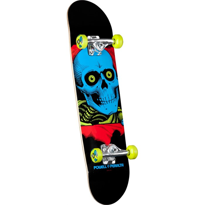 Powell Peralta - Black Light Ripper Green Skateboard Complete
