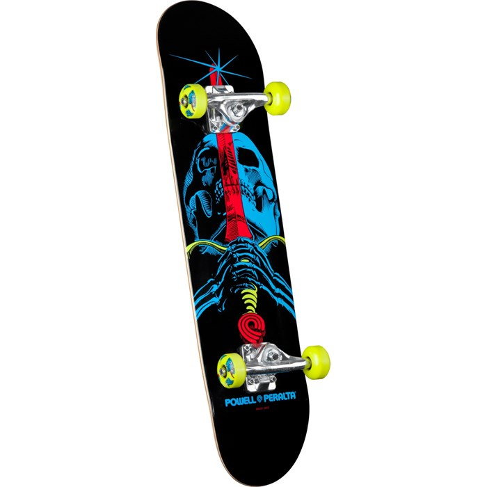 Powell Peralta - Black Light Skull & Sword Green Skateboard Complete