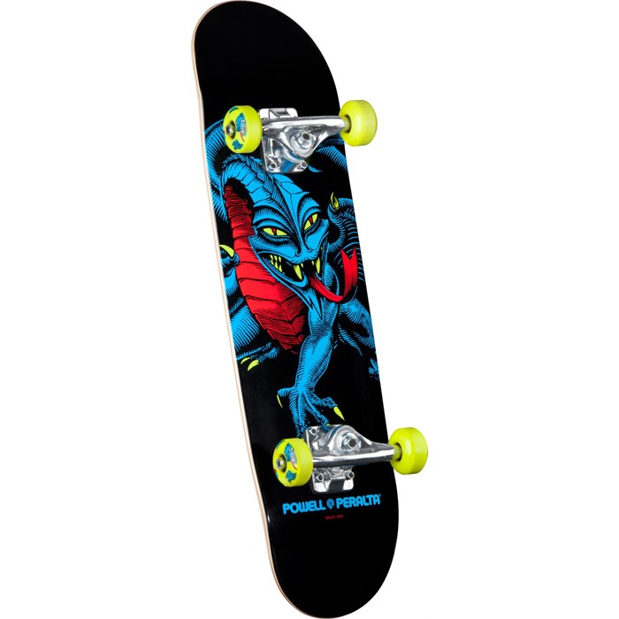 Powell Peralta - Black Light Cab Dragon Green Mini Skateboard Complete - Kid's