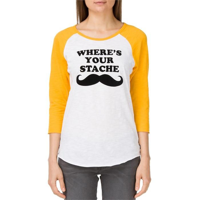 Vans - Where's Your Stache Raglan T-Shirt - Women's