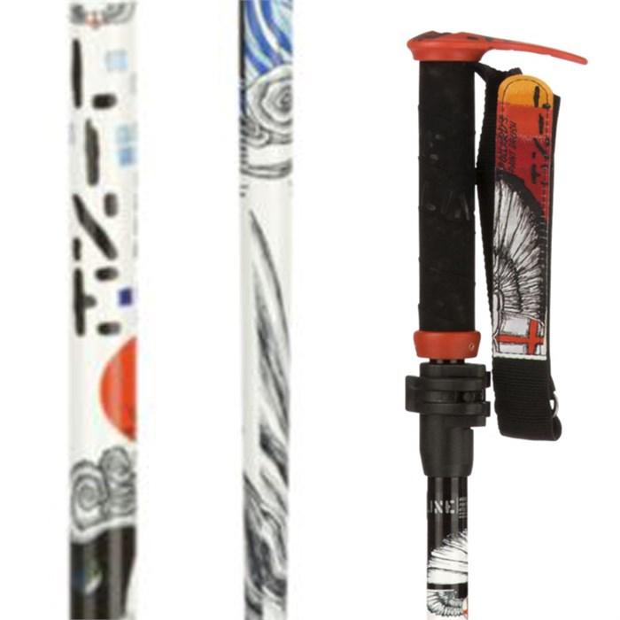 Line Skis - Pollard's Paint Brush Adjustable Ski Poles 2014