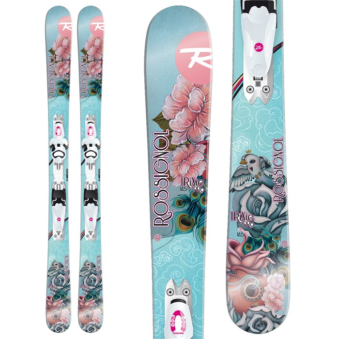 Rossignol - Trixie Pro Skis + Xelium Kid Saphir 45 Bindings - Girl's 2014