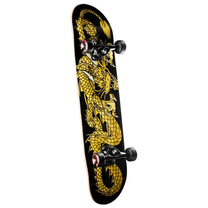 Golden Dragon - Striking Dragon Skateboard Complete