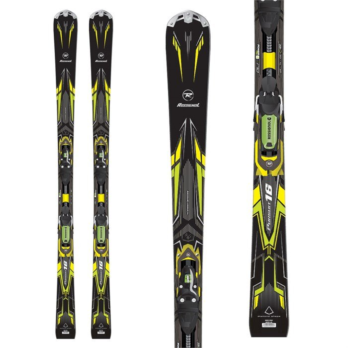 Rossignol - Pursuit 16 Ti Basalt Skis + Axial2 120 Bindings 2014