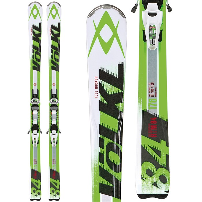 Volkl - RTM 84 Skis + iPT Wide Ride 14.0 Bindings 2014