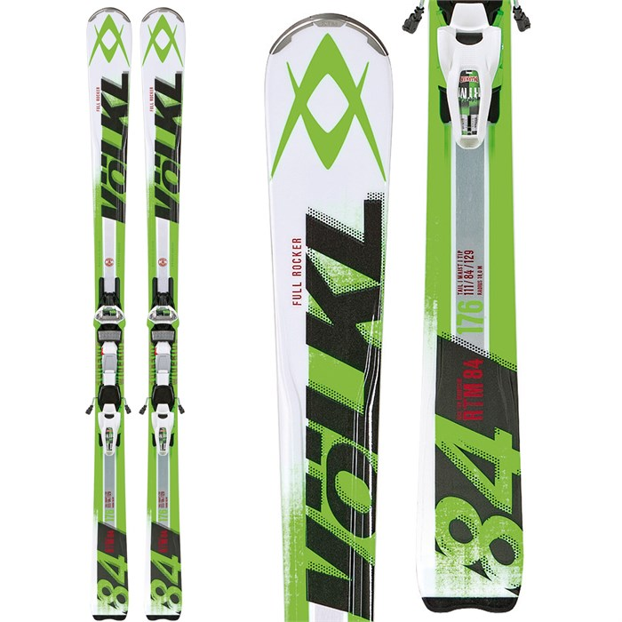Volkl - RTM 84 Skis + iPT Wide Ride 12.0 Bindings 2014 - Used