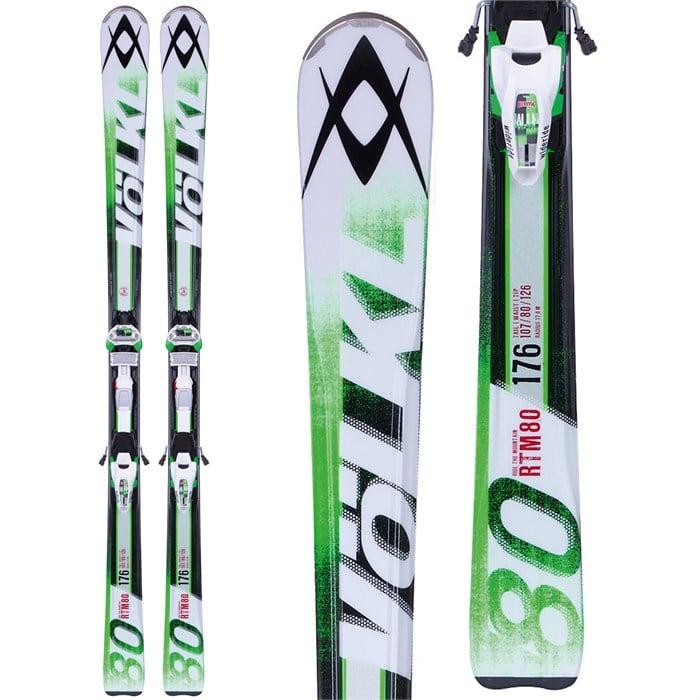 Volkl RTM 80 Skis + IPT Wide Ride 12.0 Bindings 2014
