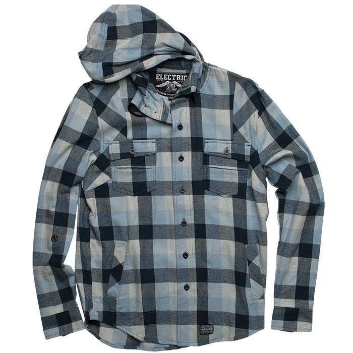 Electric - Davis Hooded Flannel Button-Down