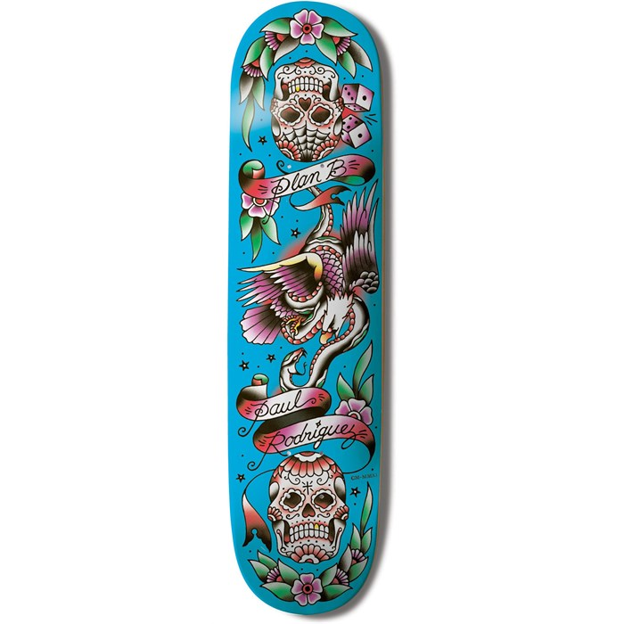 Plan B - Plan B Paul Rodriguez Color Flash Skateboard Deck