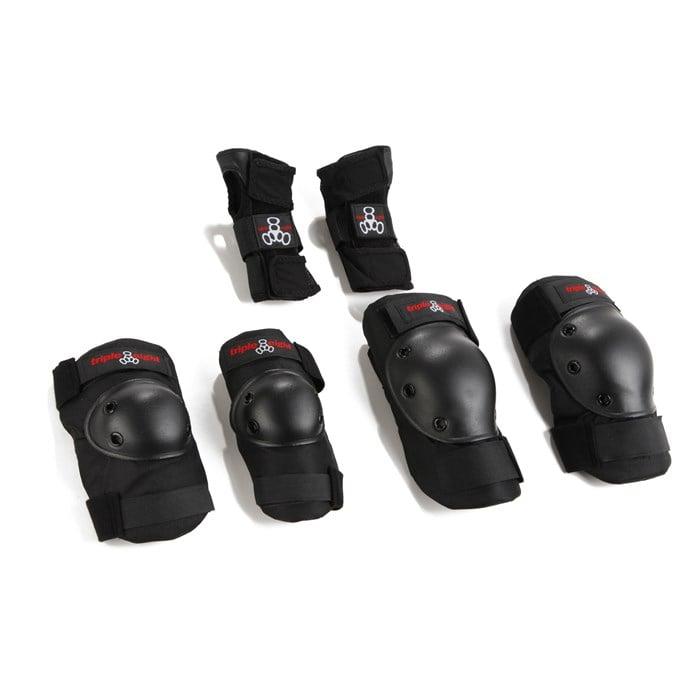 Triple 8 - Saver Series High Impact 3 Pack Adult Skateboard Pad Set