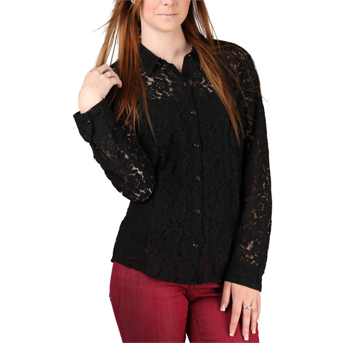 Volcom - Not So Classic Lace L/S Button Down Shirt - Women's