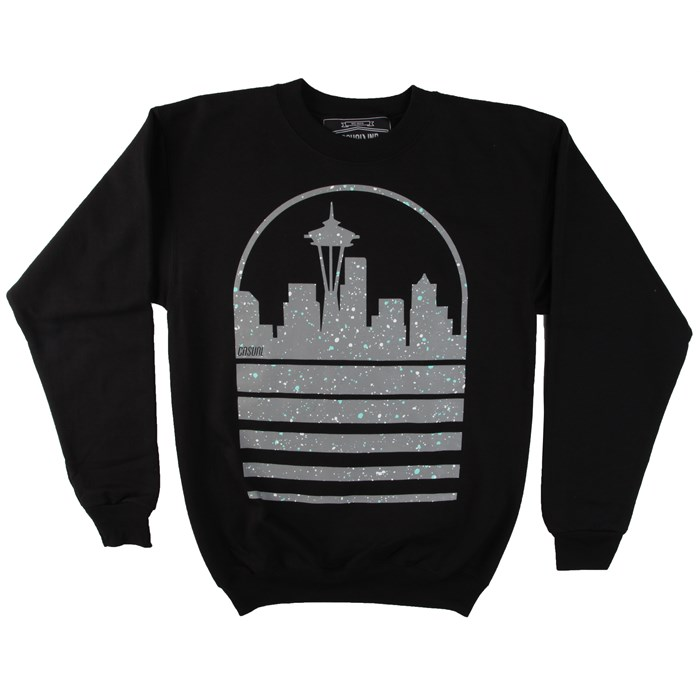 Casual Industrees - Seattle Sky Speckle Crew Neck Fleece