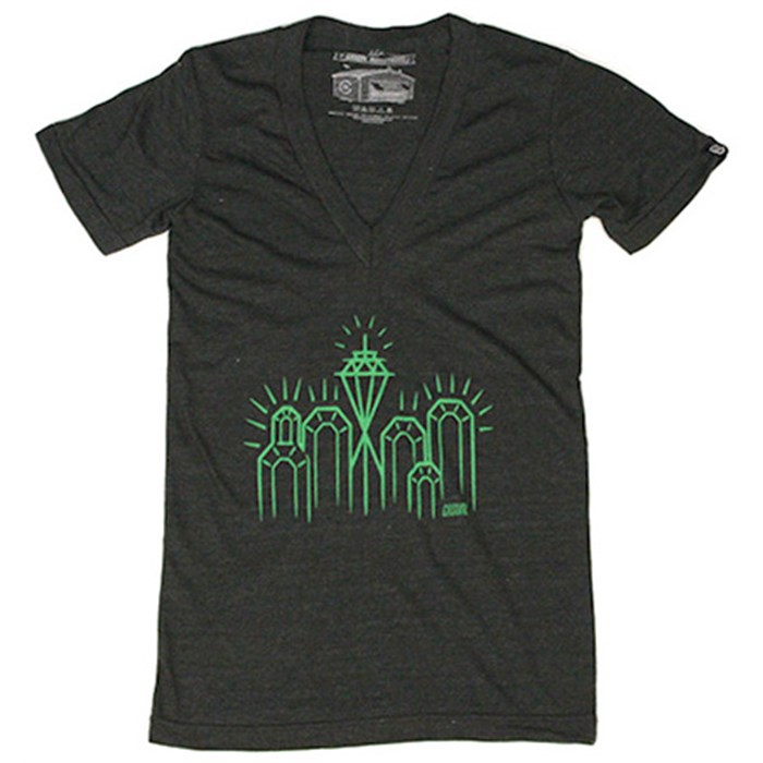 Casual Industrees - Emerald City 2 V-Neck T-Shirt - Women's