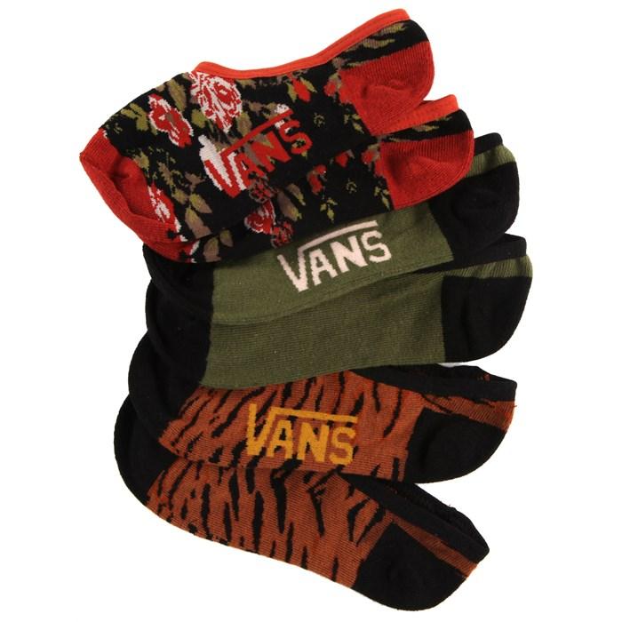 Vans - Vintage Feel Canoodle Socks - 3 Pair Pack - Women's