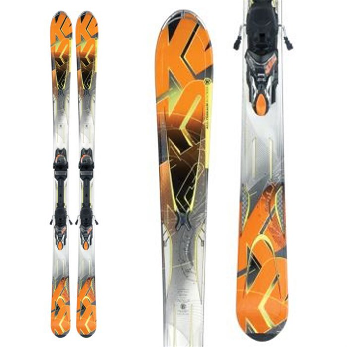 K2 - A.M.P. Impact Skis + Marker MX 12.0 Demo Bindings - Used 2012