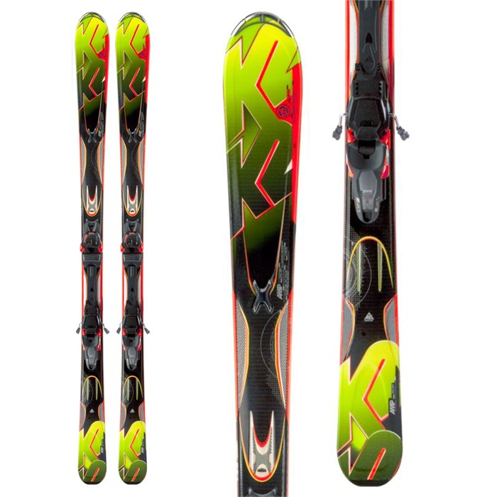 K2 - A.M.P. Rictor Skis + Marker MX 12.0 Demo Bindings - Used 2012