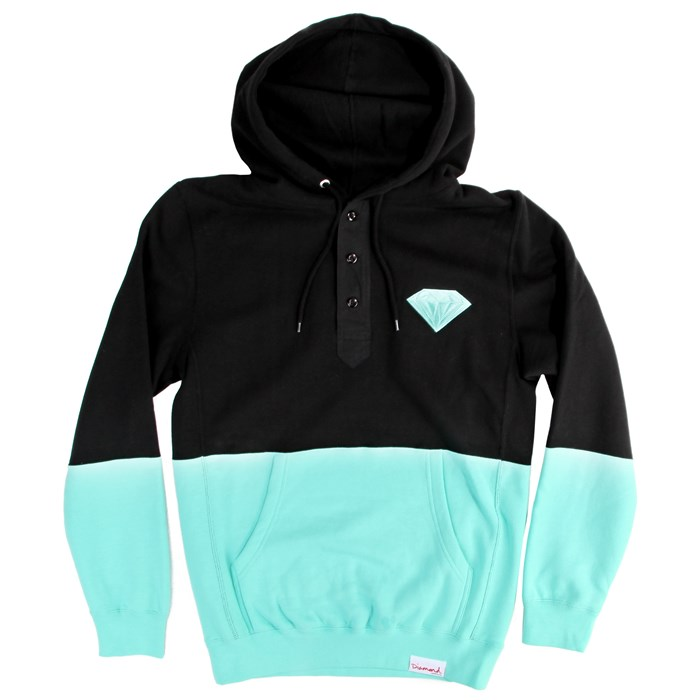 Diamond Supply Co. - Emblem Split Henley Hoodie