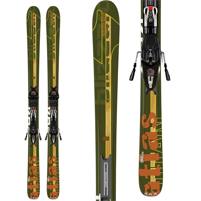 Blizzard - Titan Atlas Skis + Marker IQ Max 12 Demo Bindings - Used 2012