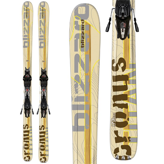Blizzard - Blizzard Titan Cronus Skis + IQ Max 12 Demo Bindings - Used 2012