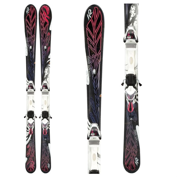K2 - Free Luv Skis + ERS 11.0 TC Demo Bindings - Used - Women's 2012