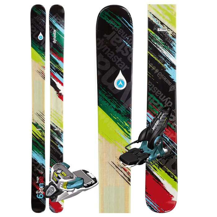 Dynastar - 6th Sense Huge Skis + Marker Jester Demo Bindings - Used 2012