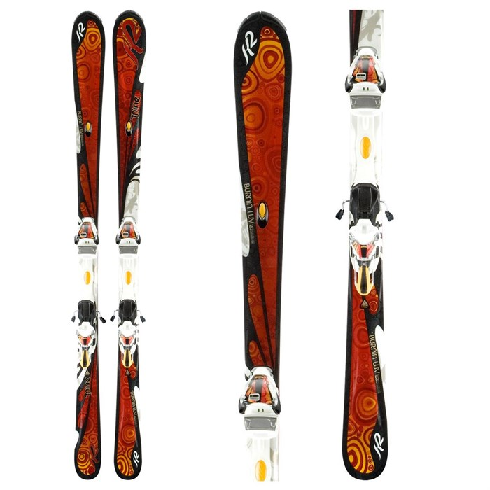 K2 - Burnin' Luv Skis + ERS 11.0 TC Demo Bindings - Used - Women's 2011