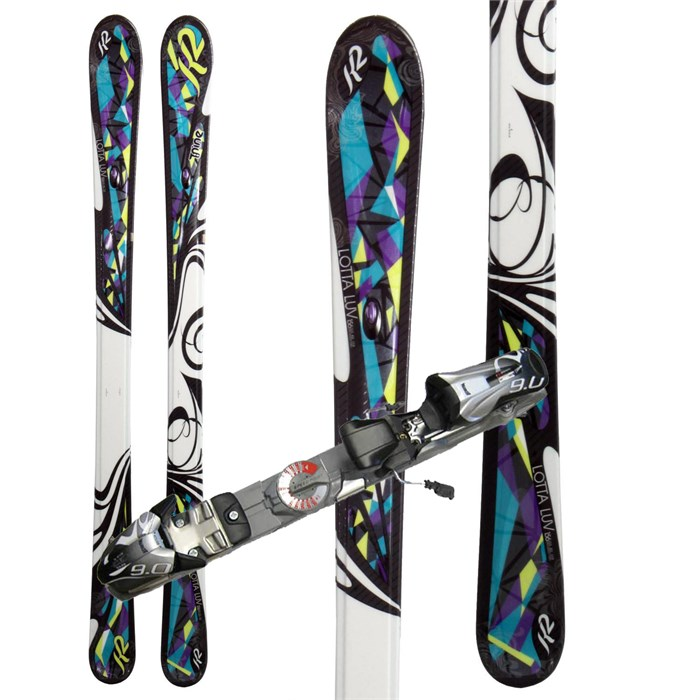 K2 - Lotta Luv Skis + Marker Speedpoint 9.0 Demo Bindings - Used - Women's 2010